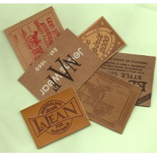 Leather Embossed Labels